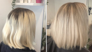 blonde cut and colour